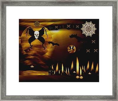 Fireflies In The Sun Framed Print