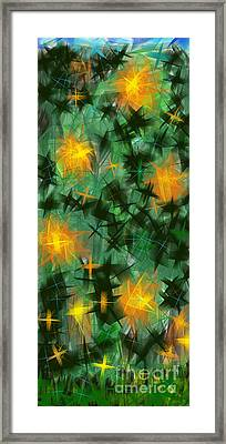 Fireflies Framed Print by Lena Wilhite