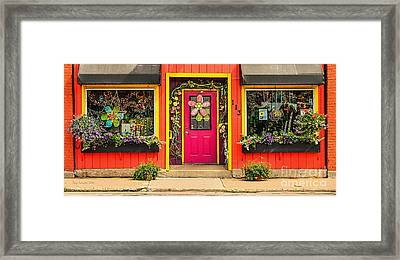 Framed Print featuring the photograph Firefly Floral Shop by Trey Foerster