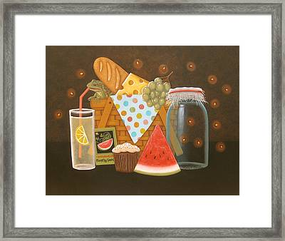Firefly Picnic Framed Print by Mary Charles
