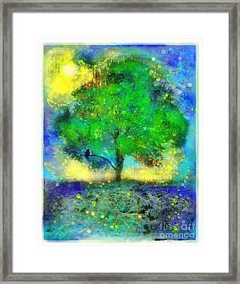 Firefly Summer Nights Framed Print
