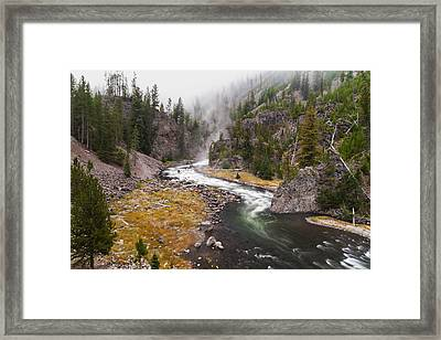 Firehole Canyon - Yellowstone Framed Print by Brian Harig