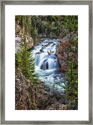 Framed Print featuring the photograph Firehole Falls by Sophie Doell