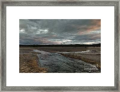Firehole Lake Drive Sunrise - Yellowstone Np Framed Print