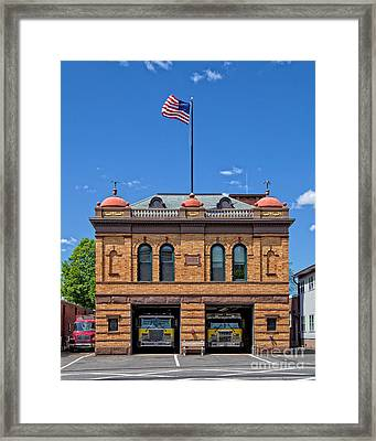 Firehouse Middletown Connecticut Framed Print by Edward Fielding