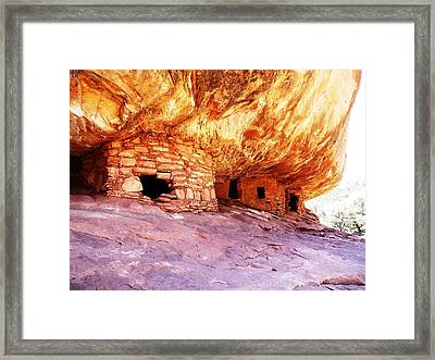 Firehouse Ruin Framed Print