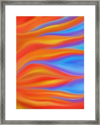 Firelight Framed Print