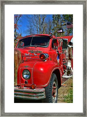 Fireman - A Very Old Fire Truck Framed Print by Paul Ward