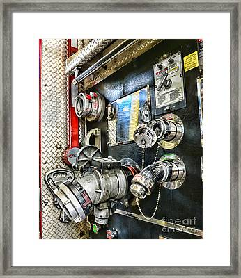Fireman - Control Panel Framed Print by Paul Ward