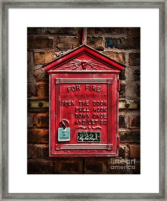 Fireman - Fire Alarm Box - Out Of Service Framed Print