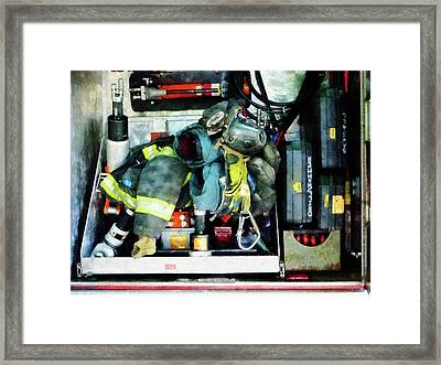 Fireman - Fire Engine Gear Framed Print