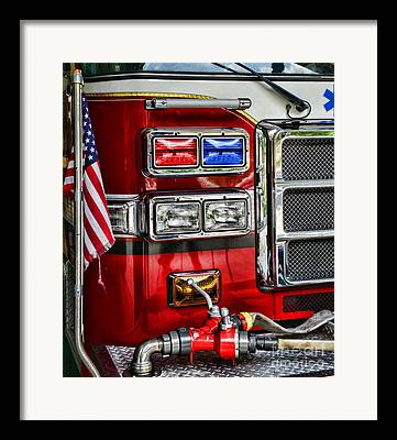 Pierce Fire Engine Framed Prints