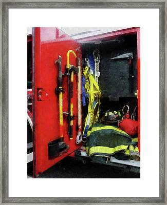 Fireman - Fire Fighting Equipment Framed Print by Susan Savad