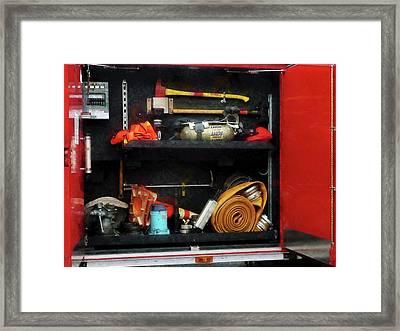 Fireman - Fire Fighting Supplies Framed Print by Susan Savad