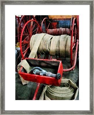 Fireman - Fire Hoses Framed Print by Susan Savad