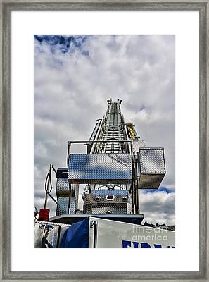 Fireman - Fire Ladder Framed Print by Paul Ward