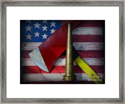Fireman - Firefighter's Pride Framed Print by Paul Ward