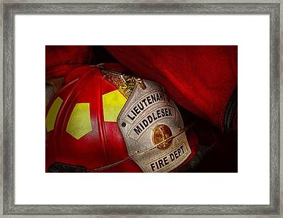 Fireman - Hat - Everyone Loves Red Framed Print by Mike Savad