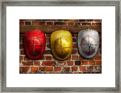 Fireman - Hats - Pick A Hat Any Hat  Framed Print by Mike Savad