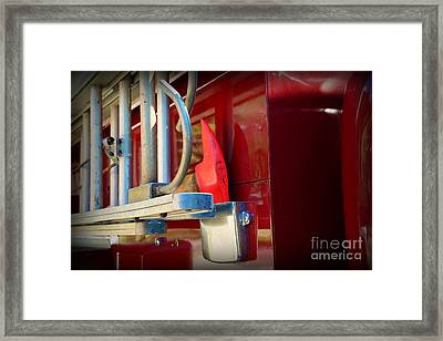 Fireman Hook And Ladder Framed Print by Paul Ward