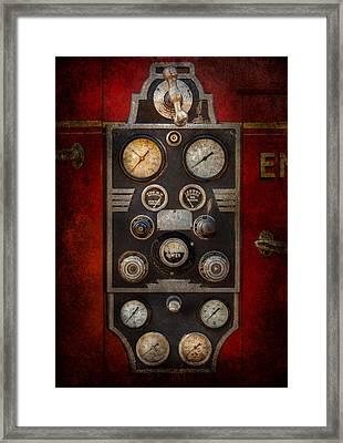 Fireman - Keep An Eye On The Pressure  Framed Print by Mike Savad
