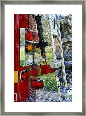Fireman Keep Back 300 Feet Framed Print