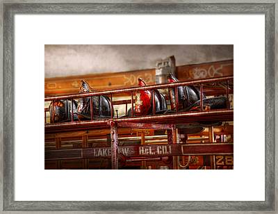 Fireman - Ladder Company 1 Framed Print by Mike Savad