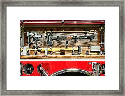 Fireman - Life Saving Tools Framed Print
