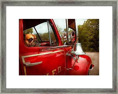 Fireman - Mack  Framed Print by Mike Savad