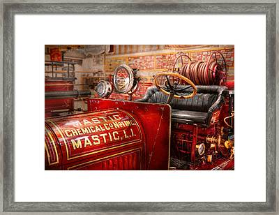 Fireman - Mastic Chemical Co Framed Print by Mike Savad