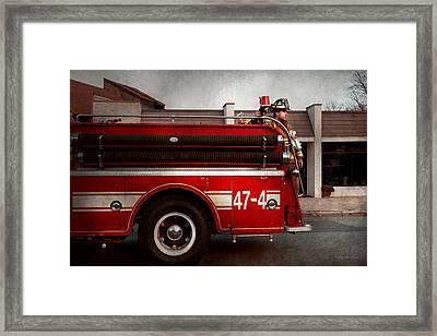 Fireman - Metuchen Nj - Always On Call Framed Print by Mike Savad