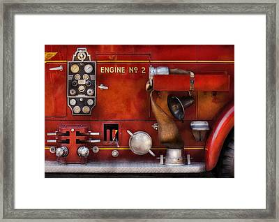Fireman - Old Fashioned Controls Framed Print by Mike Savad