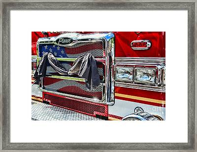 Fireman - Remembering Fallen Heroes Framed Print by Paul Ward