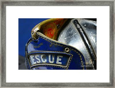 Fireman Rescue Framed Print