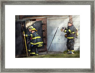 Fireman - Take All Fires Seriously  Framed Print by Mike Savad