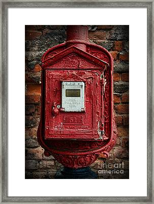 Fireman - The Fire Alarm Box Framed Print