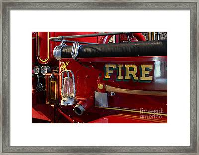 Fireman - The Fire Axe Framed Print