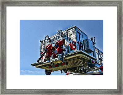 Fireman - The Fireman's Ladder Framed Print by Paul Ward