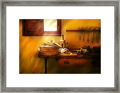 Fireman - The Humble Fire Hose Framed Print by Mike Savad