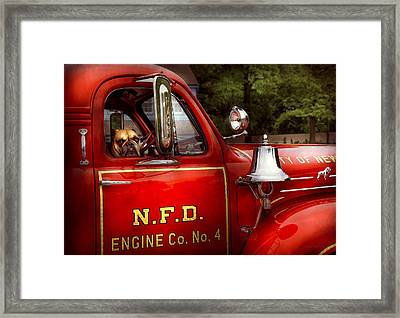 Fireman - This Is My Truck Framed Print by Mike Savad