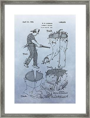 Fireman Trousers Patent Framed Print