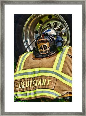 Fireman Turnout Gear Lieutenant Framed Print by Paul Ward