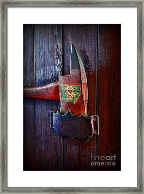 Fireman - Vintage Fire Axe Framed Print by Paul Ward