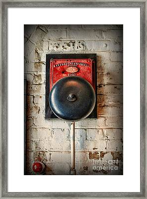 Fireman - Vintage Fire Bell Framed Print by Paul Ward