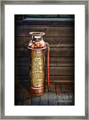 Fireman - Vintage Fire Extinguisher Framed Print by Paul Ward