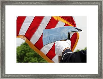 Firemans Ax - Nyc Skyline Photoshopped - New York Framed Print by Bob Savage
