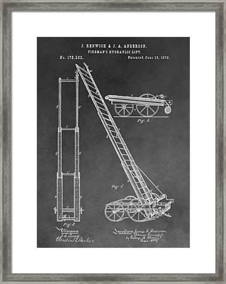 Fireman's Hydraulic Lift Framed Print by Dan Sproul