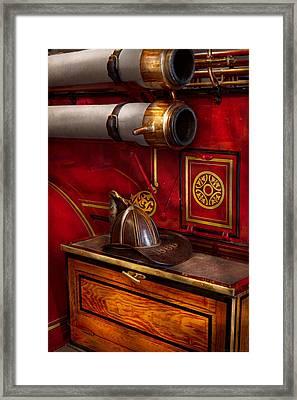 Firemen - An Elegant Job  Framed Print