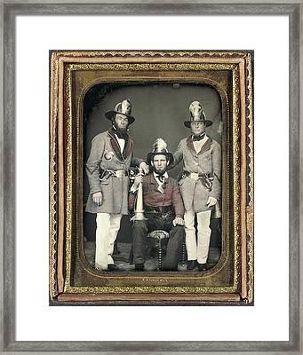 Firemen, C1855 Framed Print