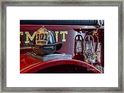 Firemen - Fire Helmet Lieutenant Framed Print by Paul Ward
